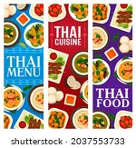 thai food banners with dishes... | Shutterstock .eps vector #2037553733