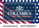 columbus day is observed every... | Shutterstock .eps vector #2037584699
