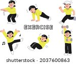 illustration set of women in... | Shutterstock .eps vector #2037600863