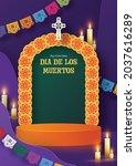 day of the dead  dia de los...   Shutterstock .eps vector #2037616289
