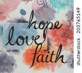 A Written Message Of Faith Hop...