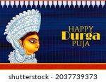 illustration of goddess durga... | Shutterstock .eps vector #2037739373