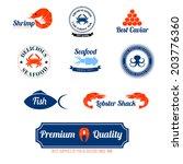 seafood restaurant supplies... | Shutterstock . vector #203776360