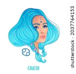 illustration of cancer... | Shutterstock .eps vector #2037764153