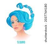 illustration of scorpio... | Shutterstock .eps vector #2037764180
