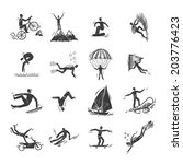 extreme sports icons sketch of... | Shutterstock . vector #203776423