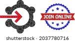 low poly gear wheel integration ...   Shutterstock .eps vector #2037780716