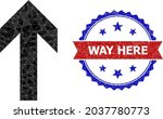 lowpoly up direction polygonal... | Shutterstock .eps vector #2037780773