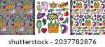 magic fairy tale patch set and... | Shutterstock .eps vector #2037782876