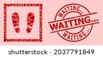 textured waiting... stamp seal  ... | Shutterstock .eps vector #2037791849