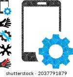 triangle smartphone settings...   Shutterstock .eps vector #2037791879