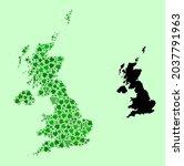 vector map of united kingdom.... | Shutterstock .eps vector #2037791963