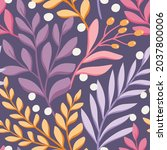 hand drawn floral pattern.... | Shutterstock .eps vector #2037800006