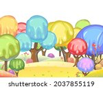 candy background. cartoon sweet ... | Shutterstock .eps vector #2037855119