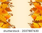autumn leaves background. fall...   Shutterstock .eps vector #2037887630