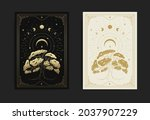 tree of life with crescent moon ... | Shutterstock .eps vector #2037907229