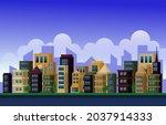 day city urban skyscraper... | Shutterstock .eps vector #2037914333