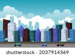 traffic city urban skyscraper... | Shutterstock .eps vector #2037914369