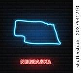 nebraska usa federal state map... | Shutterstock .eps vector #2037941210