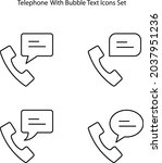 telephone icons set isolated on ... | Shutterstock .eps vector #2037951236