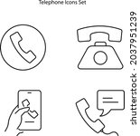 telephone icons set isolated on ... | Shutterstock .eps vector #2037951239