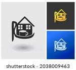 monogram logo with letter r... | Shutterstock .eps vector #2038009463