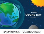 World Ozone Day With Sun And...