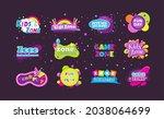kids game zone fun day...   Shutterstock .eps vector #2038064699