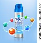 inspired by spray disinfectants.... | Shutterstock .eps vector #2038065470