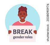 break gender roles. gender...   Shutterstock .eps vector #2038090976