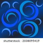 abstract modern circular vector ... | Shutterstock .eps vector #2038095419