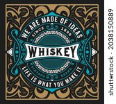 whiskey label with old frames   Shutterstock .eps vector #2038150889