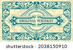whiskey label with old frames   Shutterstock .eps vector #2038150910
