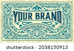 western card with vintage style   Shutterstock .eps vector #2038150913
