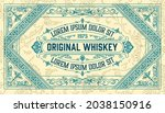 whiskey label with old frames   Shutterstock .eps vector #2038150916