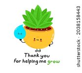 cute funny indoor plant with...   Shutterstock .eps vector #2038158443