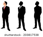businessman standing straight... | Shutterstock .eps vector #203817538