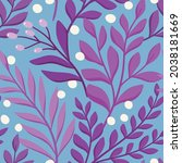 floral vector seamless pattern. ... | Shutterstock .eps vector #2038181669