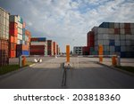 container haven terminal  | Shutterstock . vector #203818360
