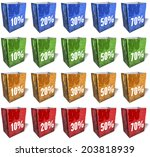 multicolored shopping bags ... | Shutterstock . vector #203818939