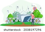 making confusion choice of path....   Shutterstock .eps vector #2038197296