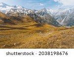 high alpine road  grossglockner.... | Shutterstock . vector #2038198676