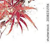 decorative autumn background... | Shutterstock .eps vector #2038231556