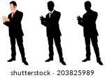 successful businessman talking  ... | Shutterstock .eps vector #203825989