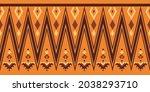 seamless vector border pattern. ...   Shutterstock .eps vector #2038293710