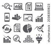 data analysis icons set on... | Shutterstock . vector #2038300823