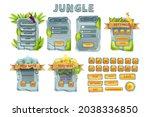 ui jungle game stone template...