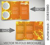trifold corporate business... | Shutterstock .eps vector #203835880