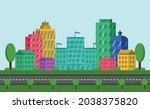 illustration of urban modern...   Shutterstock .eps vector #2038375820
