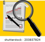 business concept of analyzing | Shutterstock .eps vector #203837824